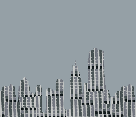 Skyline GreyBlue fabric by findbigdetails on Spoonflower - custom fabric
