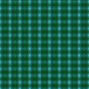 curves small turquoise on forest green