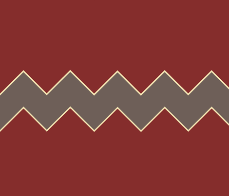 Grey and Red chevron fabric by emilyfaulkner on Spoonflower - custom fabric