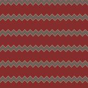 Grey and Red chevron