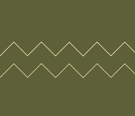 Khaki green chevron fabric by emilyfaulkner on Spoonflower - custom fabric