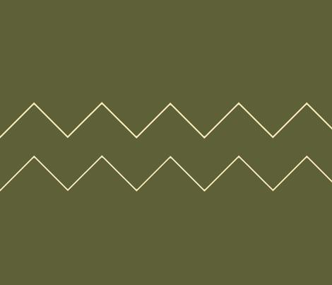 Khaki green chevron fabric by emilyfaulkner on Spoonflower - custom fabric