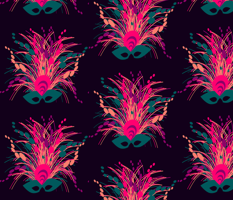 Mardi gras mask, marzlene_beauty_2543 fabric by marzlene'z_eye_candy on Spoonflower - custom fabric