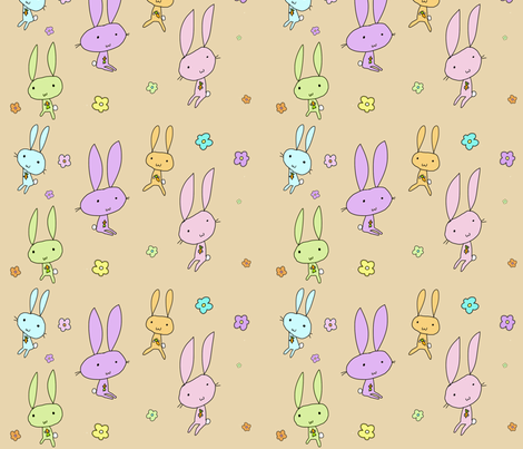 Lovely Bunnies fabric by squeaky_designs on Spoonflower - custom fabric