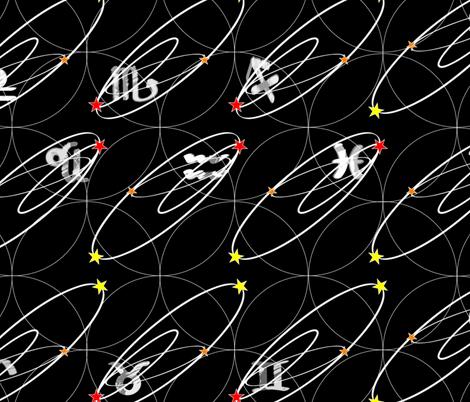 cosmic_signs-ed fabric by wyckoffdesign on Spoonflower - custom fabric