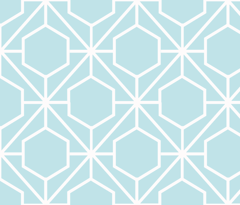 Pretty Web Aqua Ground fabric by honey&fitz on Spoonflower - custom fabric