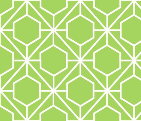 Pretty Web Granny Smith Ground fabric by honey&amp;fitz on Spoonflower - custom fabric