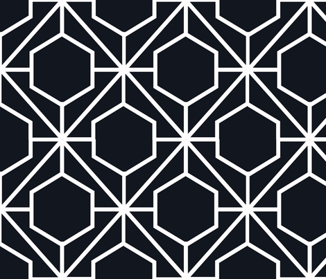 Pretty Web Ebony Ground fabric by honey&fitz on Spoonflower - custom fabric