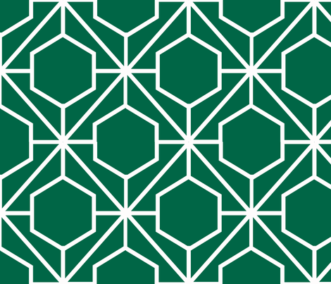 Pretty Web Malachite Ground fabric by honey&fitz on Spoonflower - custom fabric