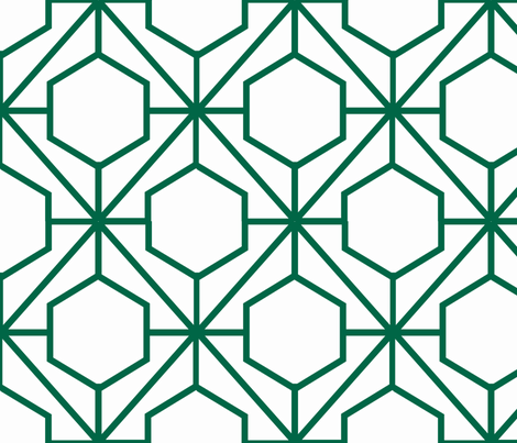 Pretty Web Malachite fabric by honey&fitz on Spoonflower - custom fabric