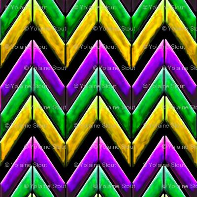 Mardi gras chevron zigzag