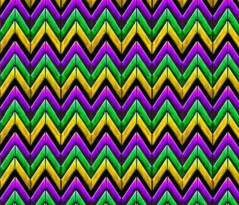 Mardi gras chevron zigzag fabric by yomarie on Spoonflower - custom fabric