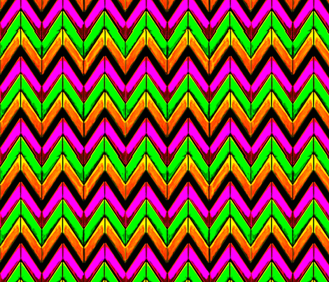 Wild summer zigzag chevrons fabric by yomarie on Spoonflower - custom fabric
