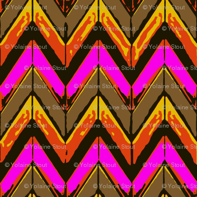 Hot pink fire zigzag chevrons
