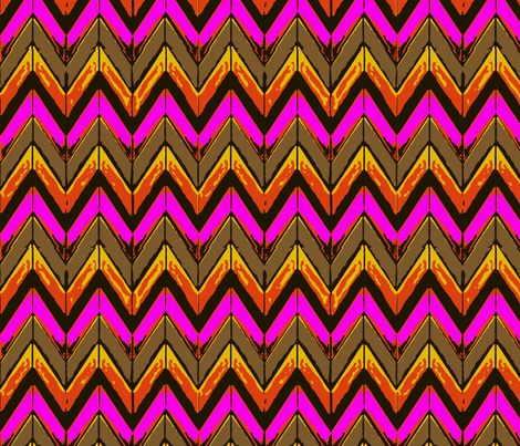 Hot pink fire zigzag chevrons fabric by yomarie on Spoonflower - custom fabric