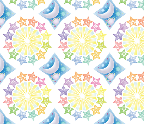 signs-in-the-sky fabric by lunabelle on Spoonflower - custom fabric