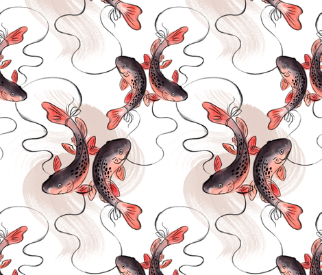 piscespond fabric by linzoo on Spoonflower - custom fabric