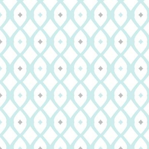 fish net (lt. Aqua, driftwood grey