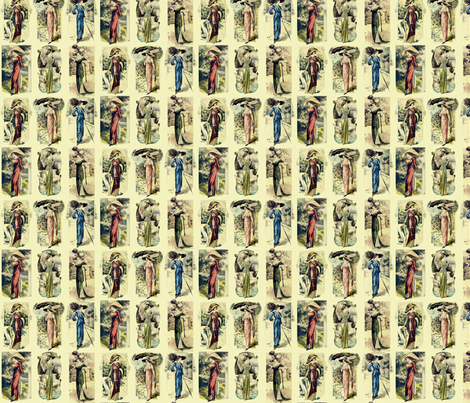 EdwardianLadies2 fabric by morrigoon on Spoonflower - custom fabric