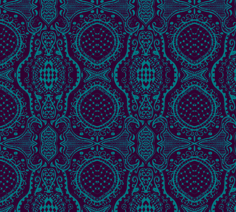 blue-ch-ch fabric by nazima on Spoonflower - custom fabric