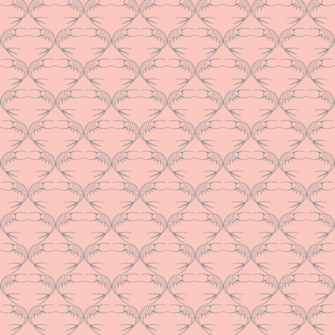 old pink silverfish fabric by hemligdolls on Spoonflower - custom fabric