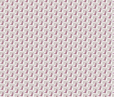flower fur fox fabric by bedroomfox on Spoonflower - custom fabric