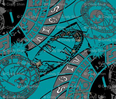Zodiac-astrological pattern