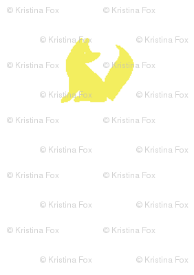 white + yellow fox