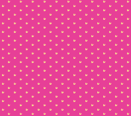 pink + yellow fox fabric by bedroomfox on Spoonflower - custom fabric