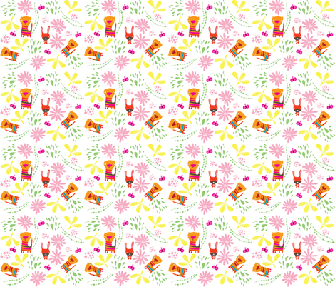 Animals in the Garden fabric by suryasajnani on Spoonflower - custom fabric