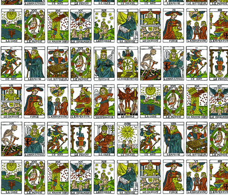 Tarot, huge scale fabric by pkfridley on Spoonflower - custom fabric