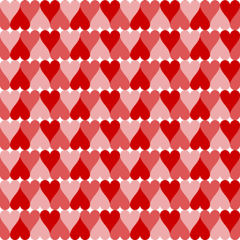 hearts in a row fabric by sef on Spoonflower - custom fabric