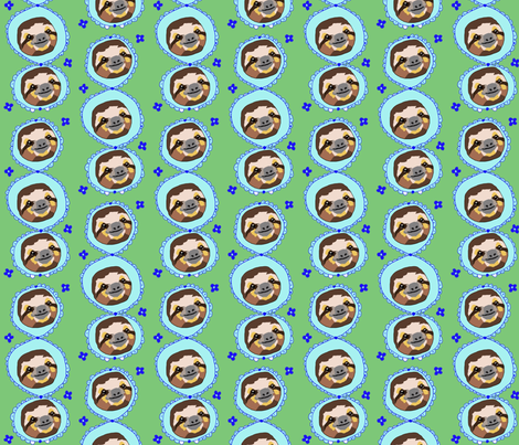 Friendly Sloths fabric by squeaky_designs on Spoonflower - custom fabric