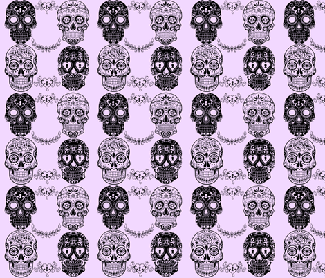 SWEET SUGAR SKULLS fabric by bluevelvet on Spoonflower - custom fabric