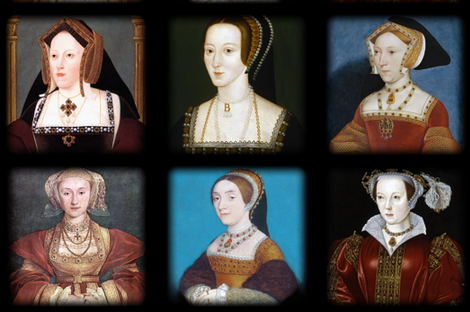 The Six Wives of Henry VIII - Pillows fabric by bonnie_phantasm on Spoonflower - custom fabric