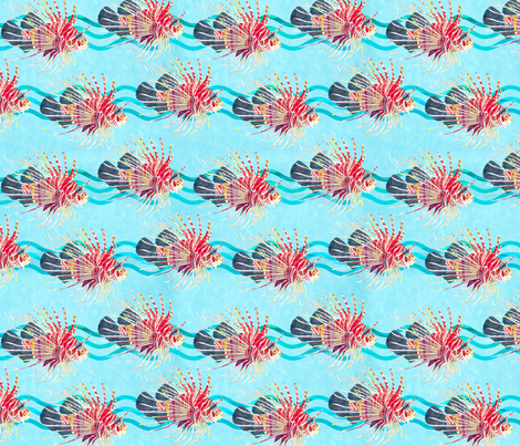 lionfish- fabric by patti_ on Spoonflower - custom fabric