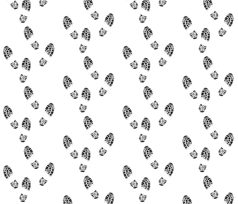 SHOE PRINTS fabric by bluevelvet on Spoonflower - custom fabric