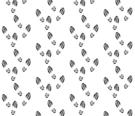 SHOE PRINTS fabric by bluevelvet on Spoonflower - custom fabric