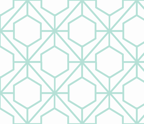 Pretty Web Minty fabric by honey&fitz on Spoonflower - custom fabric