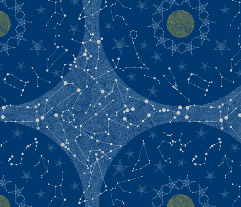 Starry Skies fabric by rubydoor on Spoonflower - custom fabric
