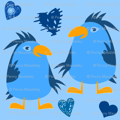 BLUEBIRDS N HEARTS