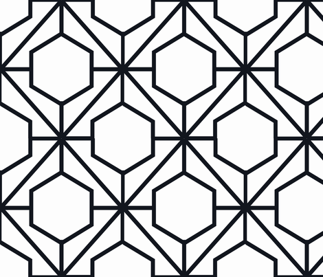 Pretty Web Ebony fabric by honey&fitz on Spoonflower - custom fabric