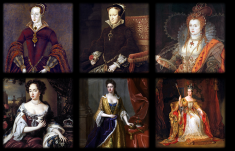 English / British Queens - Pillows fabric by bonnie_phantasm on Spoonflower - custom fabric