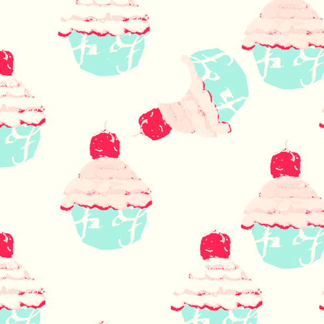 Old Fashioned Cupcakes fabric by karenharveycox on Spoonflower - custom fabric