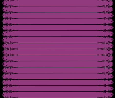 Stained Glass Border Print: Purple