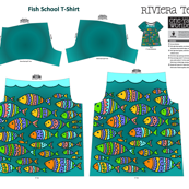 Fish School One Yard Wonders Riviera Tee Shirt