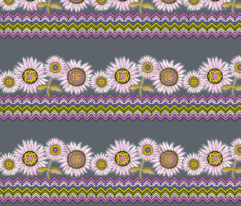 Believe_border_grey fabric by mindsthatcreate on Spoonflower - custom fabric