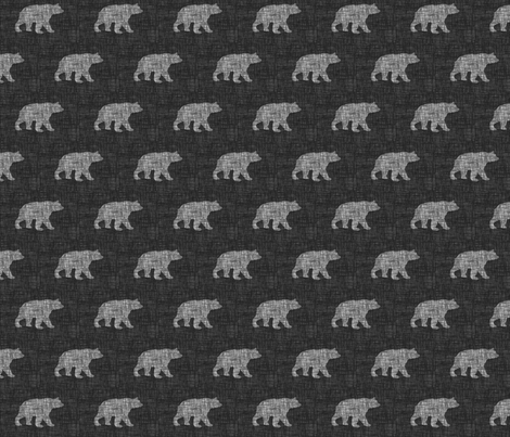Small Bears fabric by jwitting on Spoonflower - custom fabric