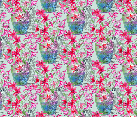 Queen Lily fabric by linsart on Spoonflower - custom fabric