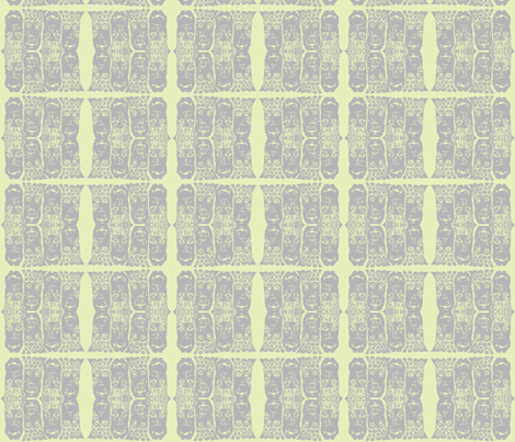 Masked Faces-gray fabric by jennymeadchatterton on Spoonflower - custom fabric